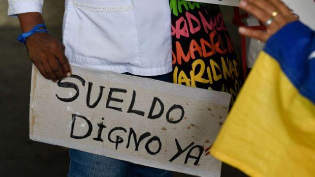 Protestas por un sueldo digno