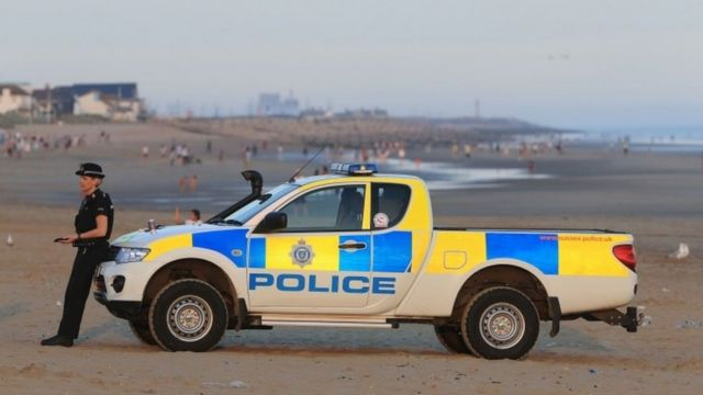 Officer at Camber Sands
