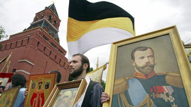 Marcha en memoria del zar Nicolás II.