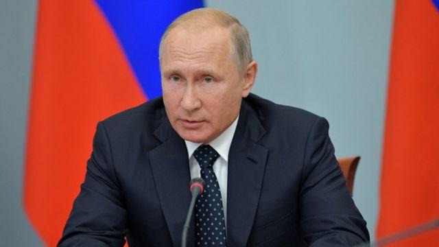 Putin gives address
