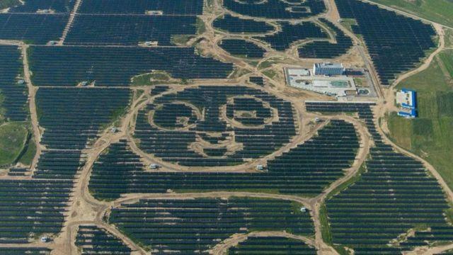 محطة ضخمة للطاقة الشمسية في الصين