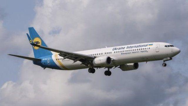 یک هواپیمای خطوط هوایی اوکراین