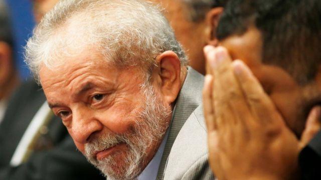 O ex-presidente Luiz Inácio Lula da Silva, durante sessão de impeachment de Dilma