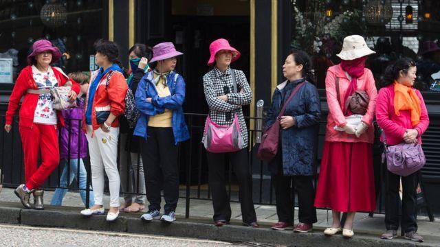 Turistas asiáticas