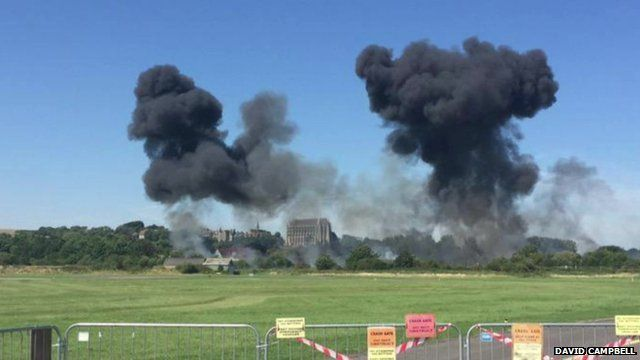 Crash at airshow