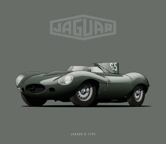"Jaguar D-Type - ""Nariz Larga"""