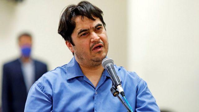 روح الله زم مدیر کانال تلگرامی آمد نیوز
