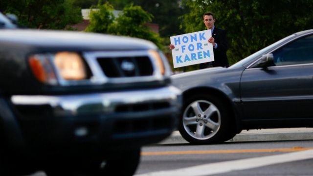 Jack Miller, 15, akimpigia debe mgombea wa Republican Karen Handel