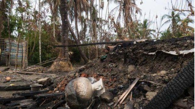 ရွာတွေကို မီးရှို့ ဖျက်ဆီးမှုတွေ အာဆာက လုပ်ခဲ့တာလို့ အစိုးရက ပြောကြားထား
