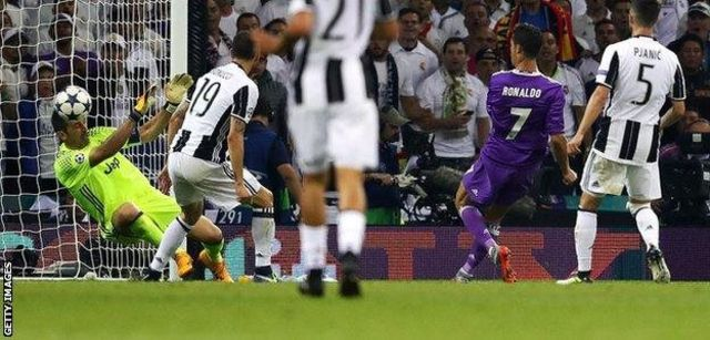 Ronaldo alifunga magoli mawili katika fainali ya ligi ya mabingwa 2017 dhidi ya Juventus