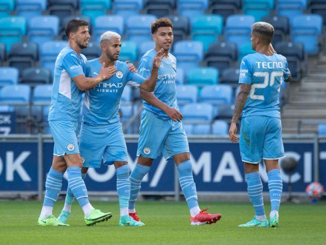 Manchester City beat Preston in a pre-season friendly