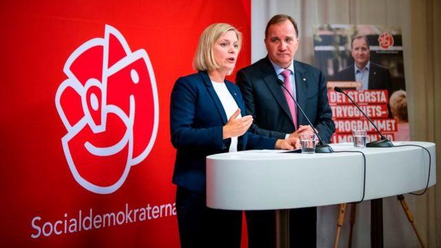 رئيس الوزراء ستيفن لوفان ووزيرة المالية ماجدولينا أندرسون