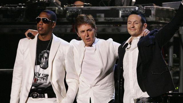 Jay Z, sir Paul McCartnet y Chester Bennington.