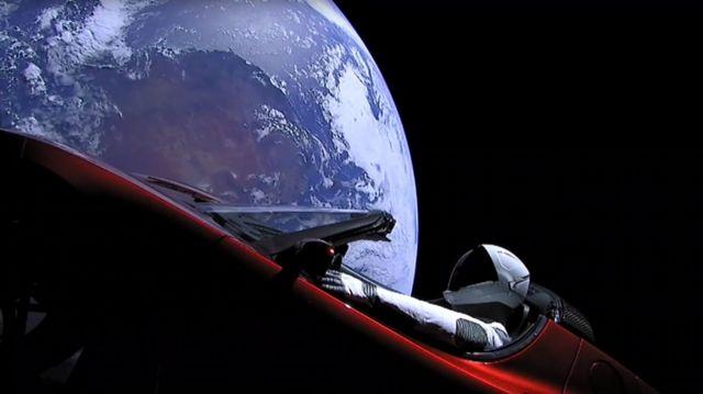 Tesla desde el espacio
