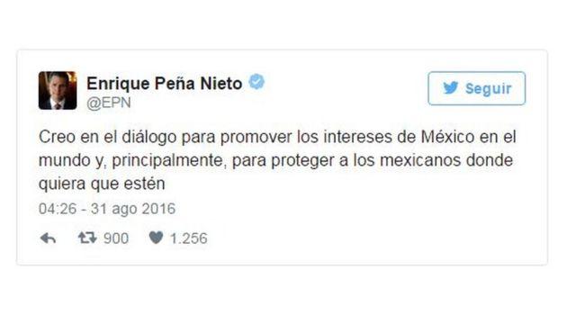 Tuit de Enrique Peña Nieto