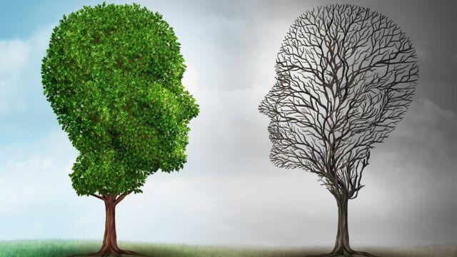 Ilustração de duas cabeças