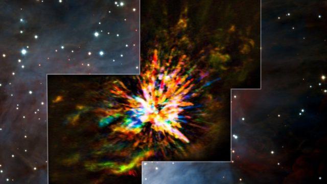 Apakah bahan peledak bertabrakan dengan bintang yang sekarat?  Bintang muda?