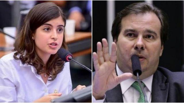 Tábata Amaral e Rodrigo Maia
