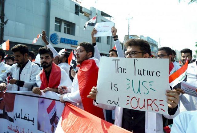 Bağdat protesto
