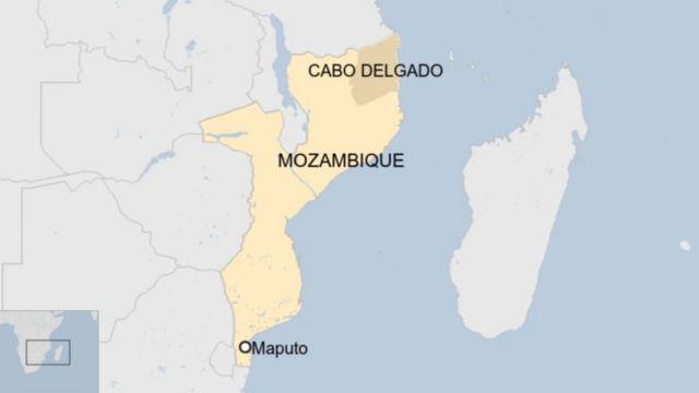 Ikarita ya Mozambique igaragaza intara ya