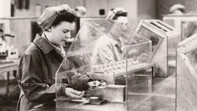 Fábrica en Inglaterra durante la II Guerra Mundial