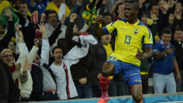 Valencia celebra un gol contra Honduras.