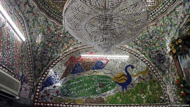 Modern art work at Baba Farid