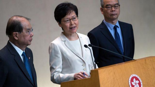 林鄭月娥多次強調,建議和撤回修訂《逃犯條例》的決定都是由香港政府作出,與北京政府無關。