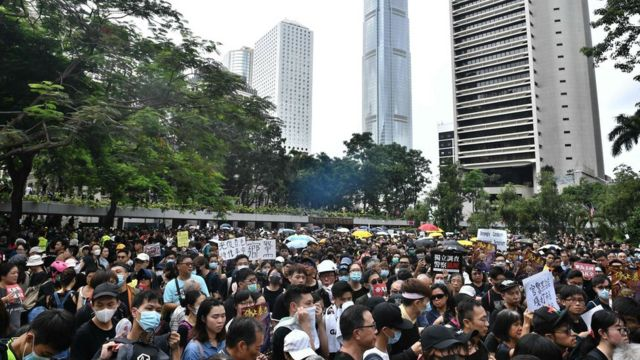 7월 28일 홍콩 시위 현장