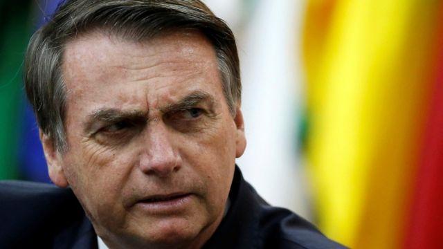 Presidente Jair Bolsonaro em cerimônia