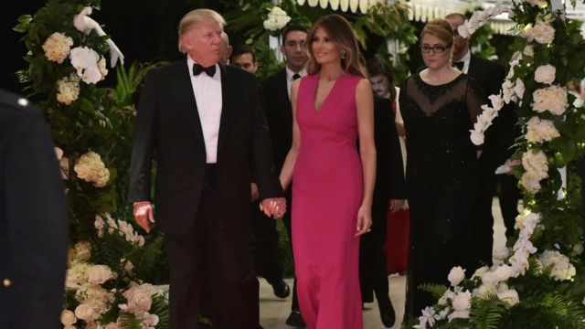 Trump y Melania.