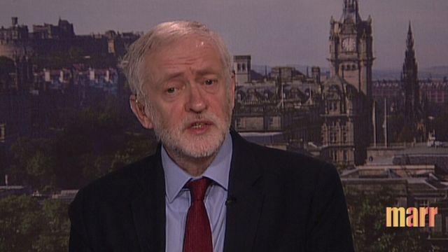 Jeremy Corbyn on Andrew Marr programme