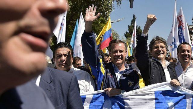 Guillermo Lasso, uno de los candidatos a la presidencia de Ecuador.