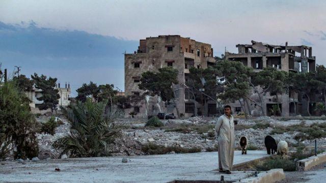 Raqa, antigual capital de Estado Islámico en Siria.