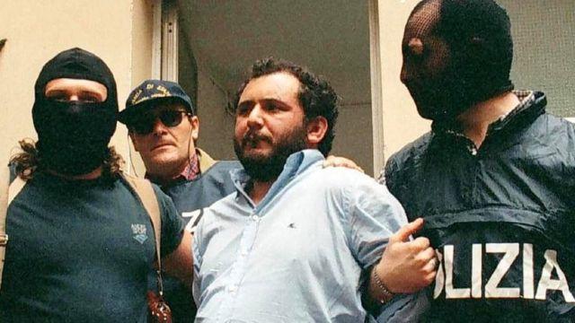 Organize suç örgütü lideri Giovanni Brusca Palermo'da1996 yılında tutuklandı