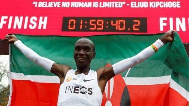 Eliud Kipchoge a couru un marathon en moins de deux heures