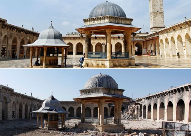 Mosque before and after