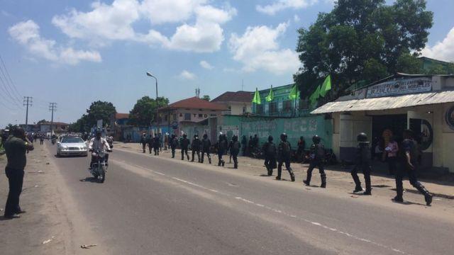 De nombreux policiers ont été déployés dans les points chauds et sites stratégiques de Kinshasa