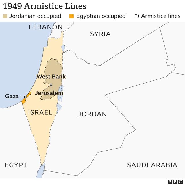 Map of 1949 armistice lines