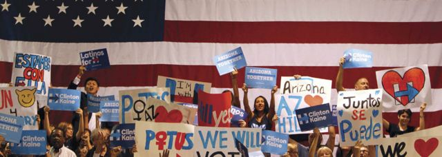 Clintonun Arizonadakı dəstəkçiləri