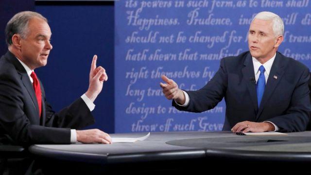 Tim Kaine y Mike Pence debaten