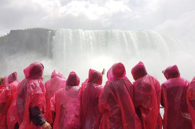 People near Niagara Falls