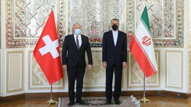 رئیس مجلس ملی سوئیس امروز در تهران با وزیر خارجه ایران دیدار کرده