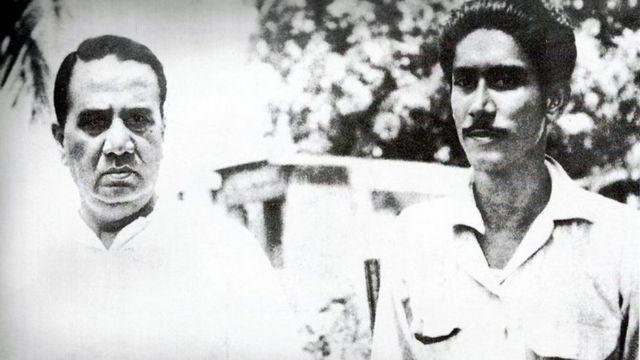 শেখ মুজিব ও হোসেন শহীদ সোহরাওয়ার্দী