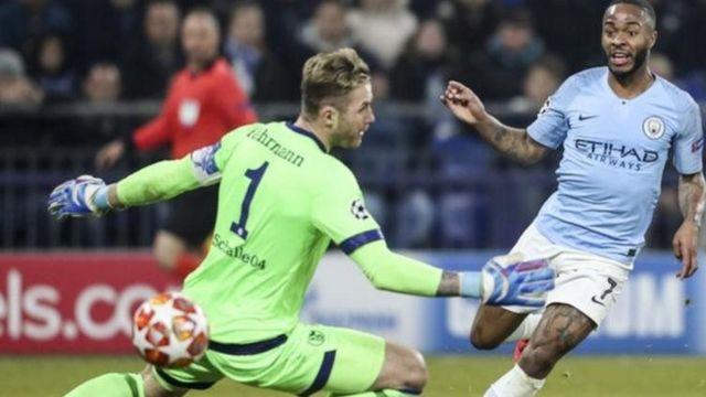 Raheem Sterling akifunga bao la ushindi dhidi ya Schalke ya Ujerumani