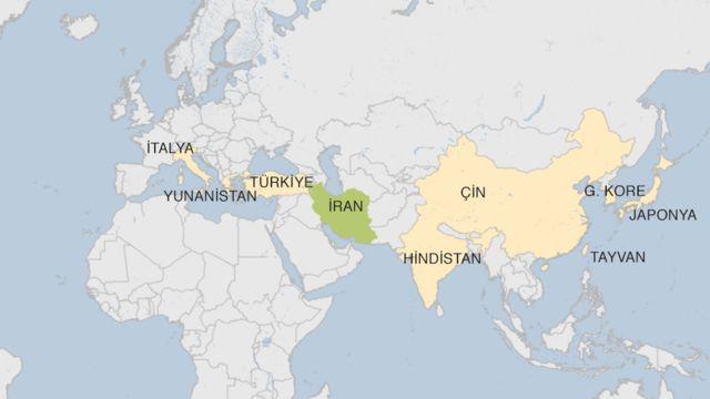 ABD'nin İran yaptırımlarından geçici olarak muaf tuttuğu 8 ülke