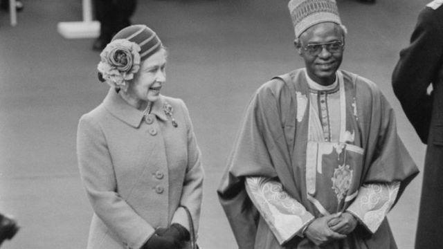 Alhaji Shehu Shagari and Queen Elizabeth II