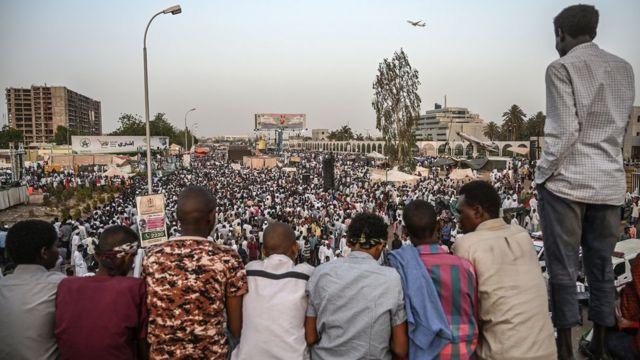 جانب من مظاهرات السودان