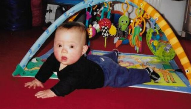 Tom when he was a baby