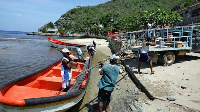 Pescadores de Chuao, en Aragua.